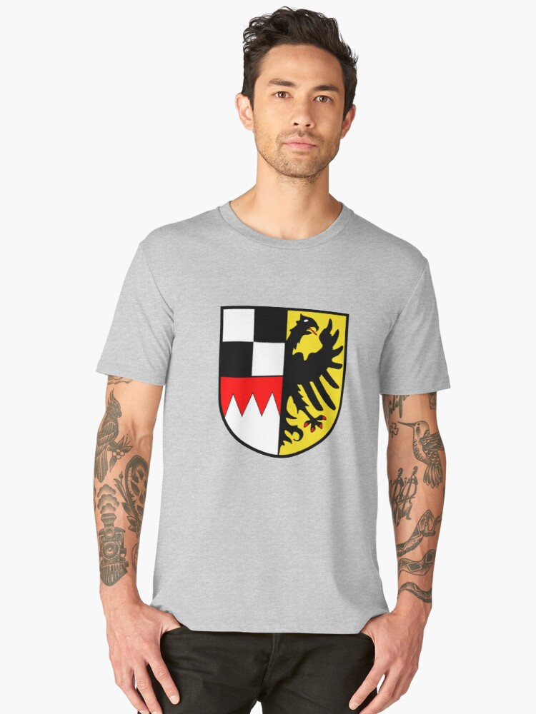 Middle Franconia coat of arms, Germany Men's Premium T-Shirt Front