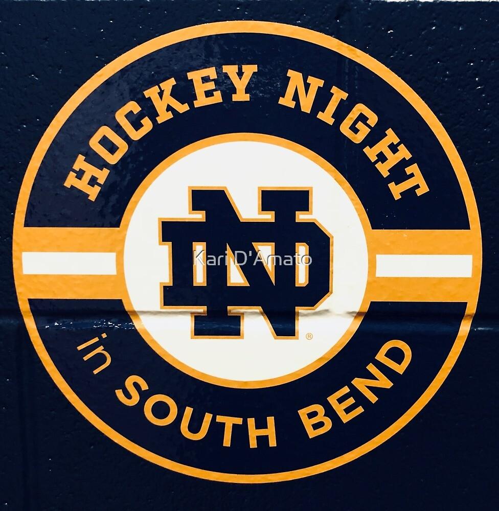 Notre Dame Hockey Night by Kari D'Amato