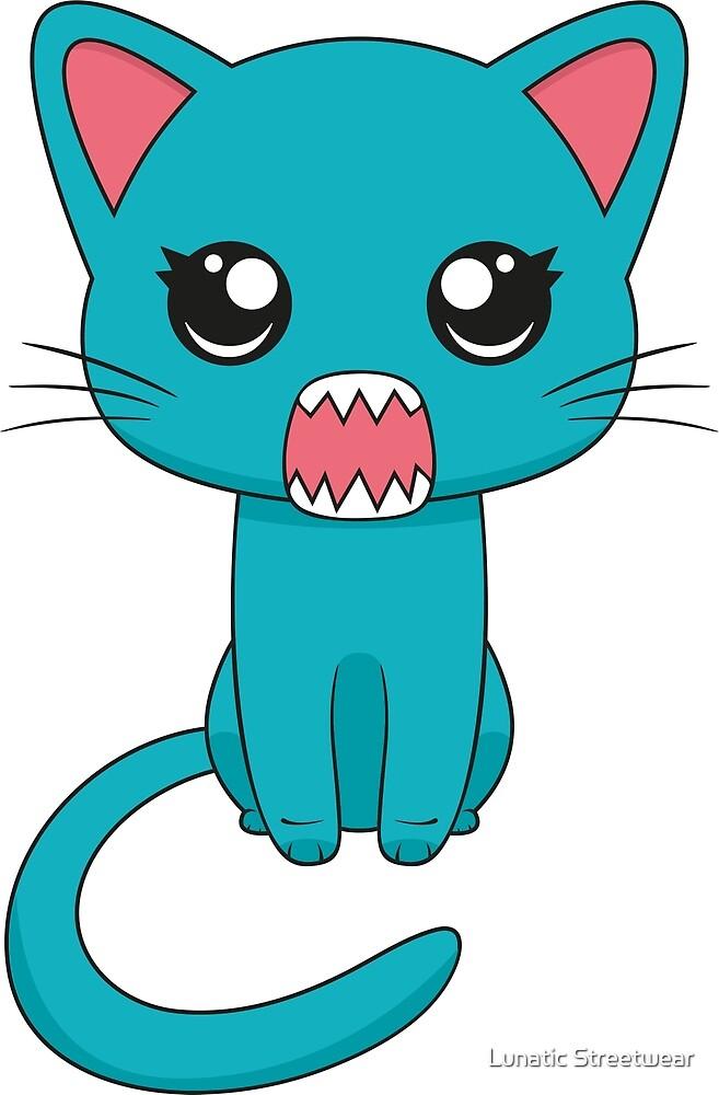 Cute Kawaii Cat by Lunatic Streetwear