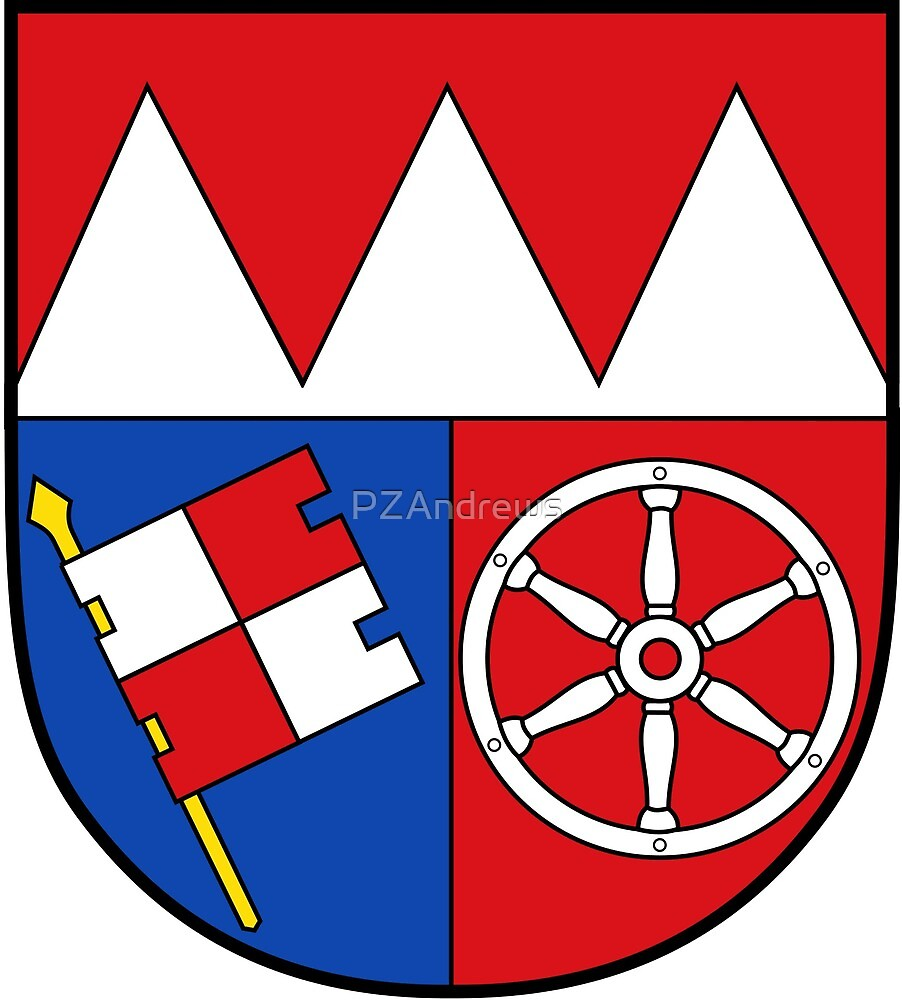 Lower Franconia coat of arms, Germany by PZAndrews