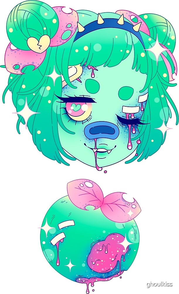 Rotten Fruit Girls! - Apple by ghoulkiss