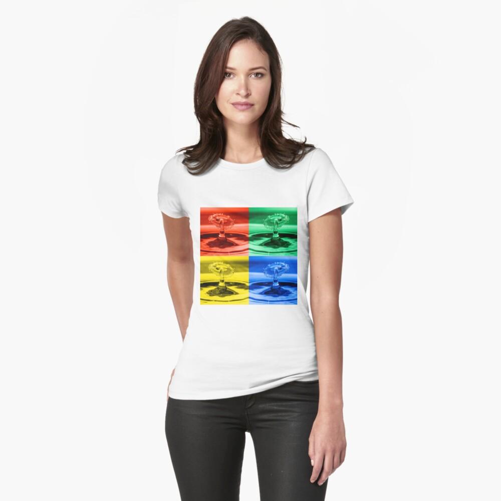 Pop Art Water Drops 2 Women's T-Shirt Front