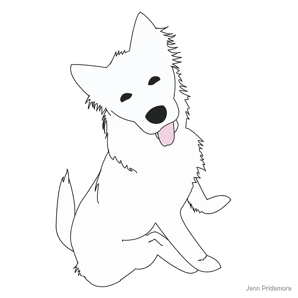 Happy Samoyed Puppy by Jennifer Pridemore
