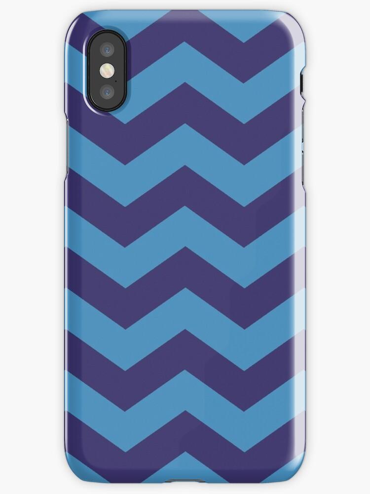 Blue/Indigo Zig Zag Stripes by sidebar