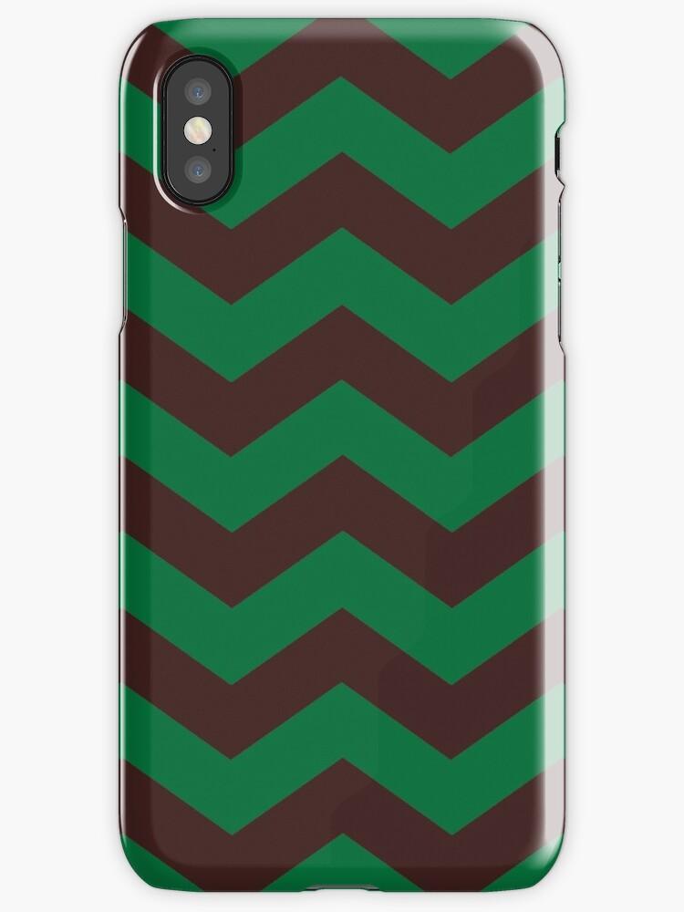 Brown/Green Zig Zag Stripes by sidebar