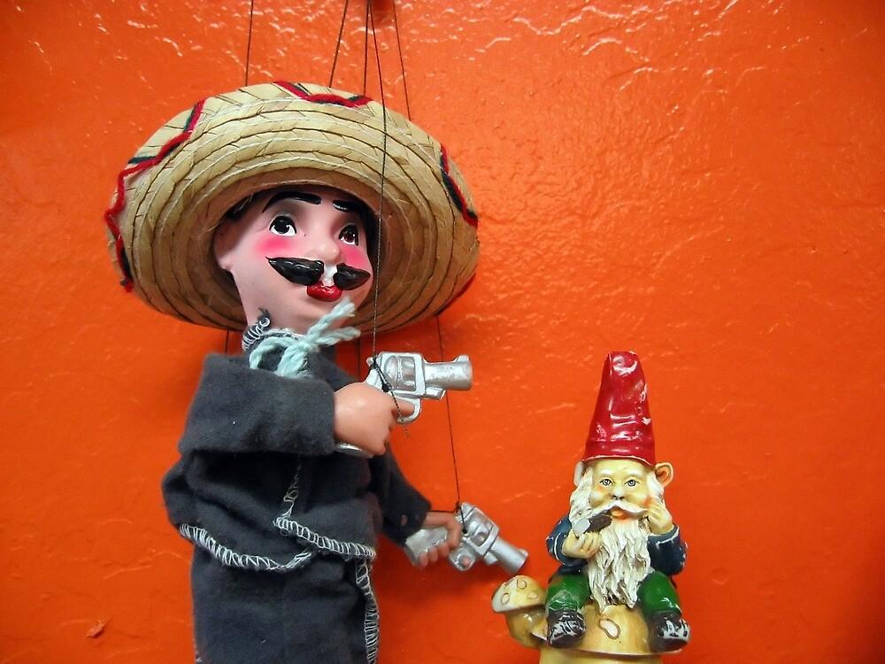 Desperado and gnome by johncarleton