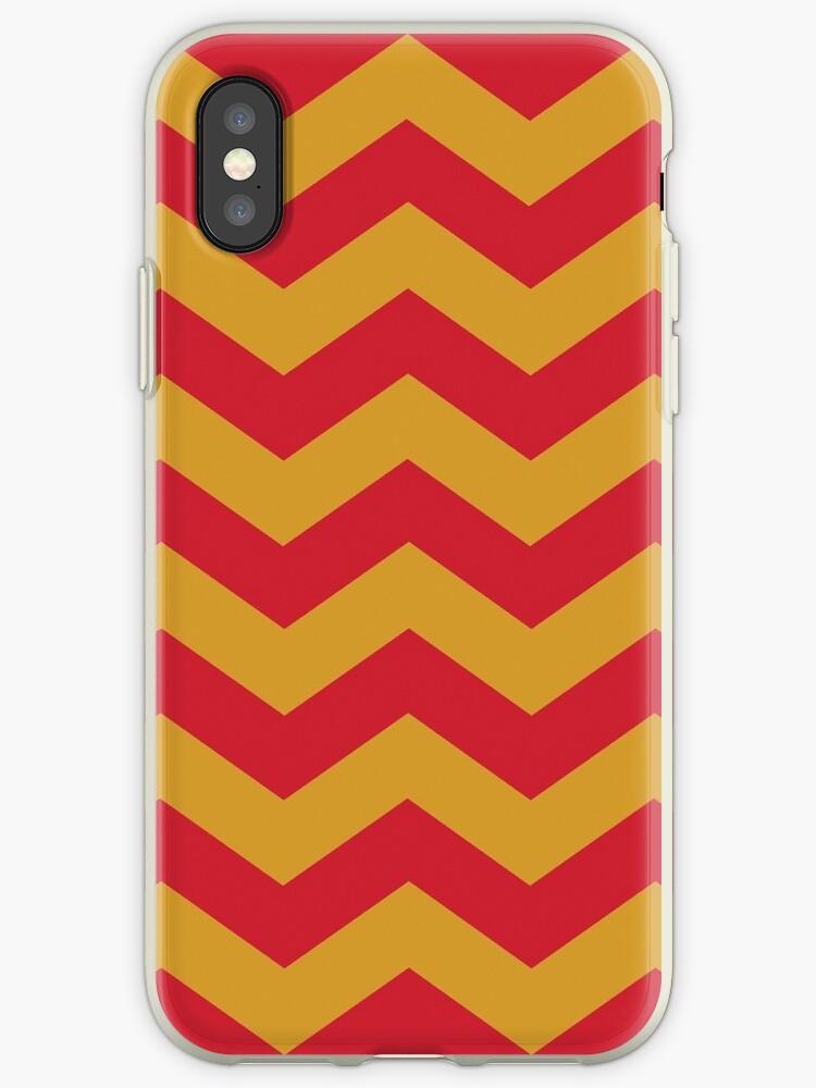Red/Yellow Zig Zag Stripes by sidebar
