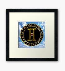GEMINI GOLD ZODIAC BIRTHDAY JEWEL ASTROLOGY CHART Framed Print