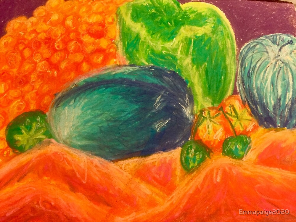 Ashleigh's Fruit & Vegetable Still Life by Emmapaige2020