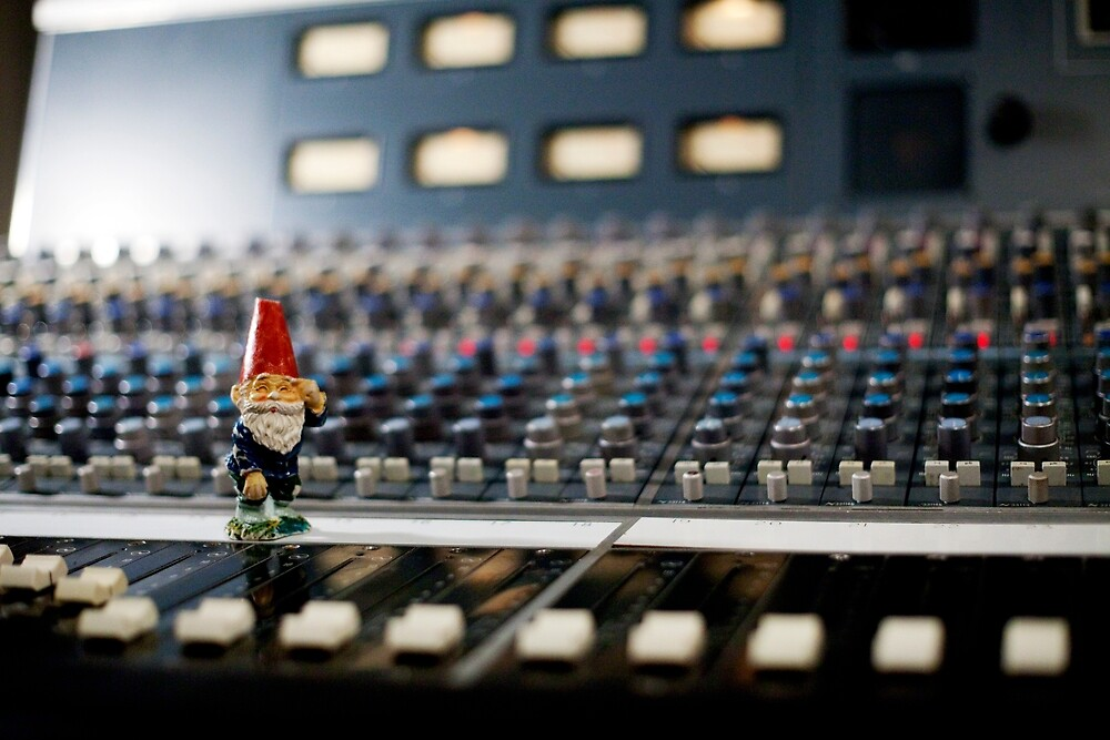 Gnome in recording studio by johncarleton