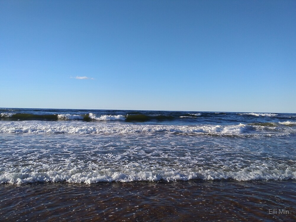 The ocean in P.E.I. by Elli Min