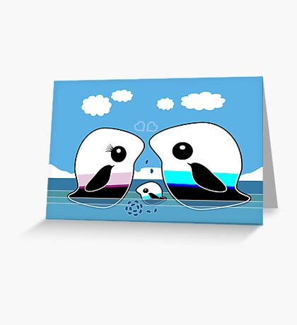 Paradise Penguin Family Greeting Card