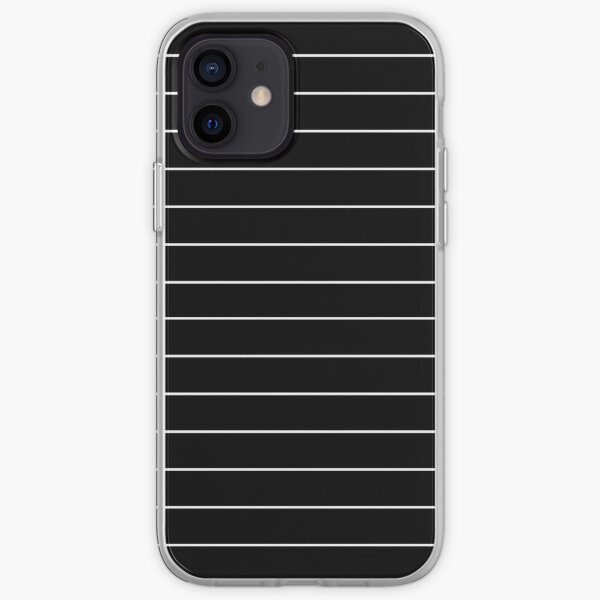 Black/White Horizontal Stripes iPhone Soft Case