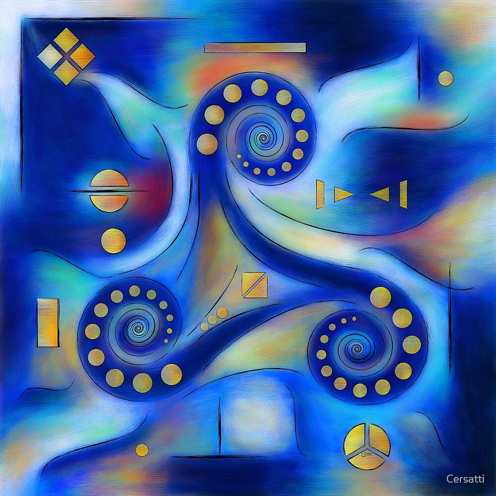 Anabressia - blue spiral planet by Cersatti