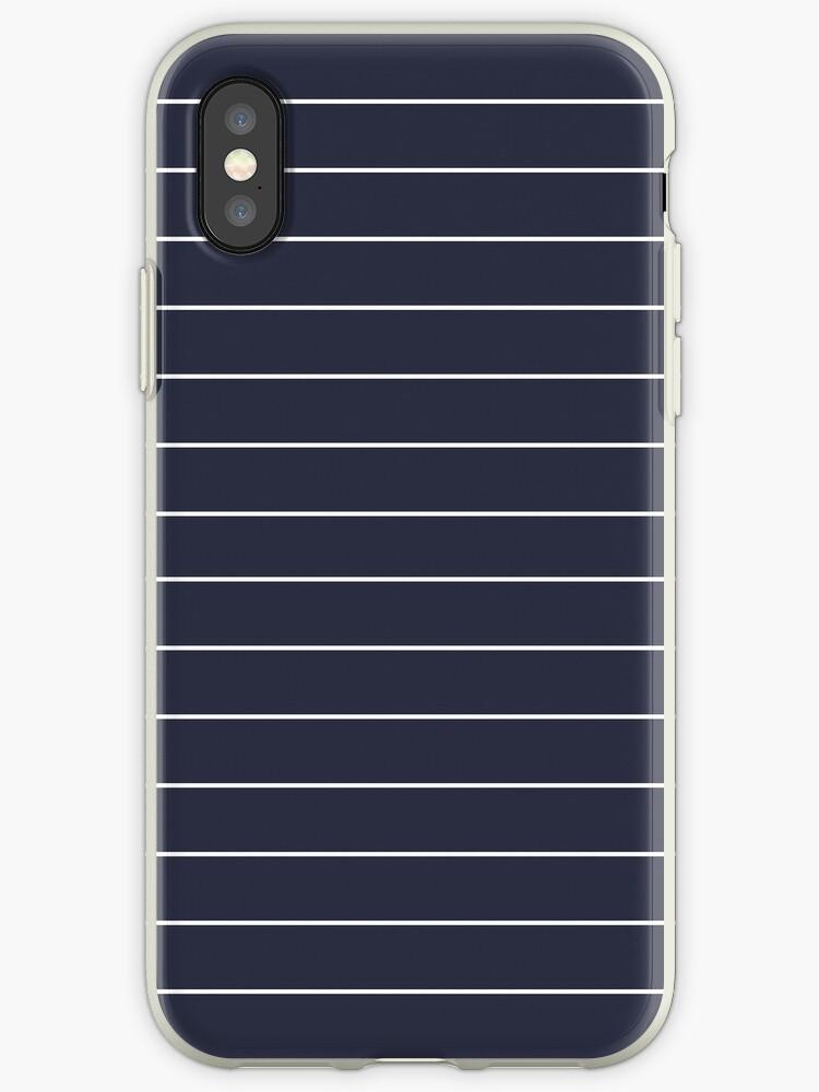 Navy/White Horizontal Stripes by sidebar