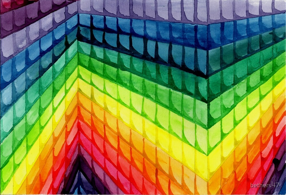 Watercolor Rainbow Scales by bethers47