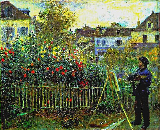 Renoir - Monet Painting in his Garden at Argenteuil by virginia50