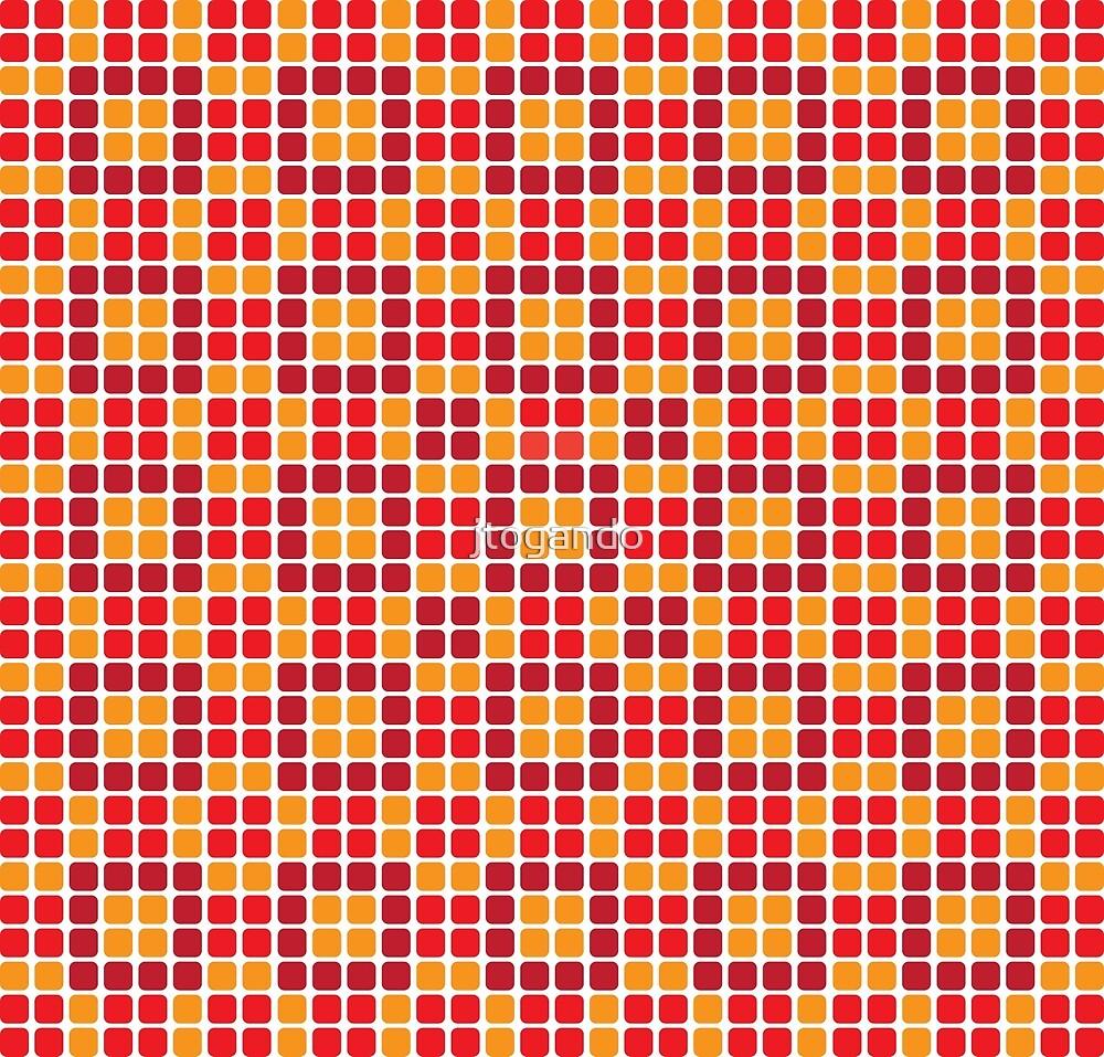 red and orange mosaics by jtogando