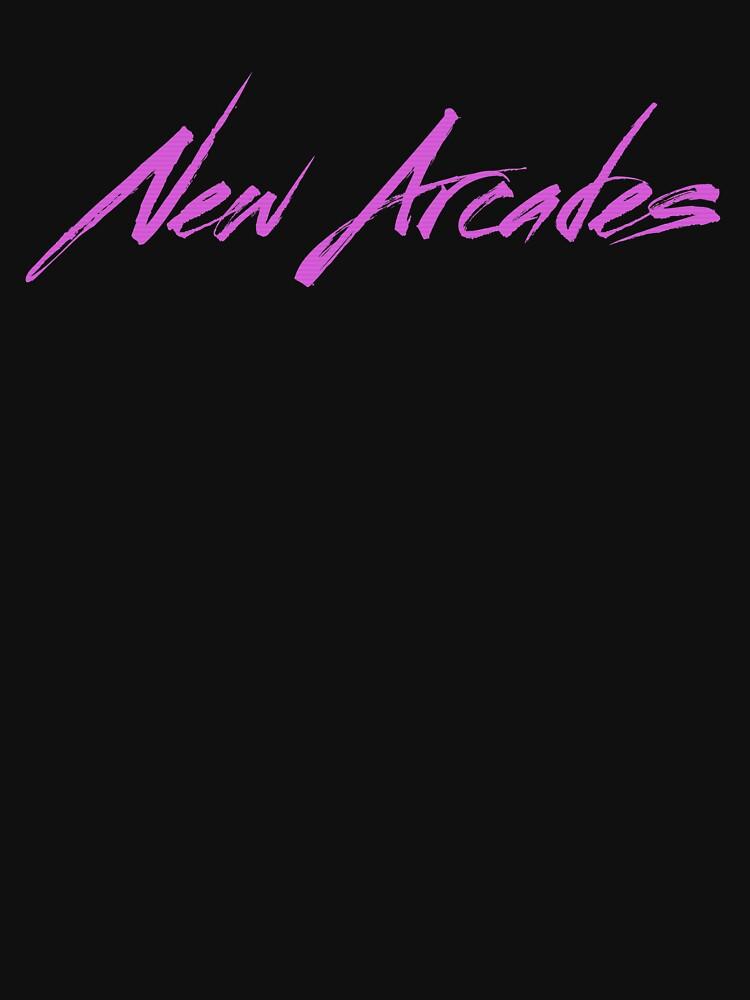 New Arcades - Logo (Pink text) by NewArcades