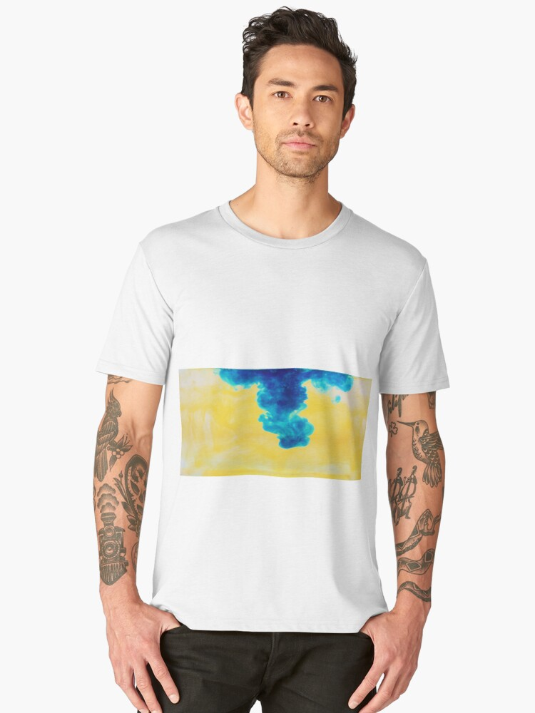 Blue drop Men's Premium T-Shirt Front