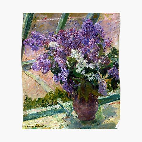 Mary Cassatt Lilacs in a Window Poster