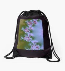 Floral Fractal  Drawstring Bag