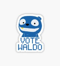 Vote Waldo Black Mirror Sticker