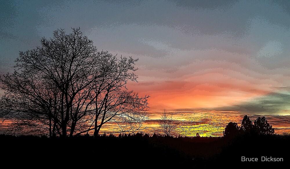 dusk celebration by Bruce  Dickson