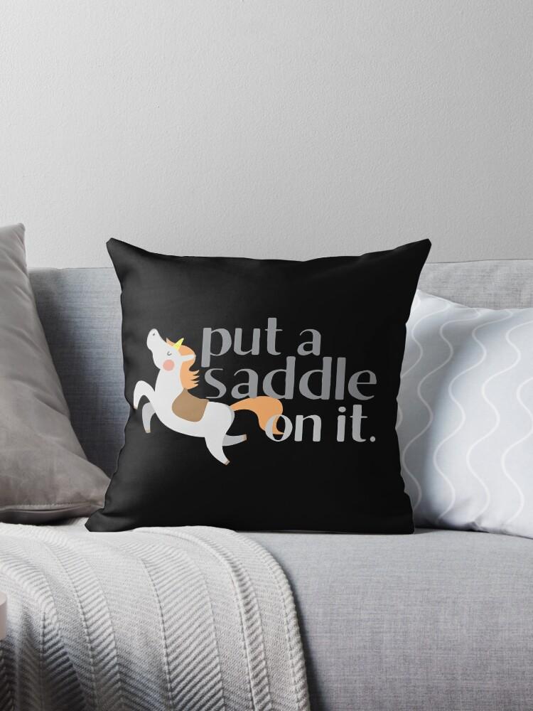put a saddle on it! sassy horse design by jazzydevil