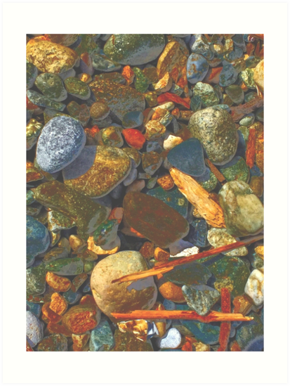 Stones on the Shore II by Mike Solomonson