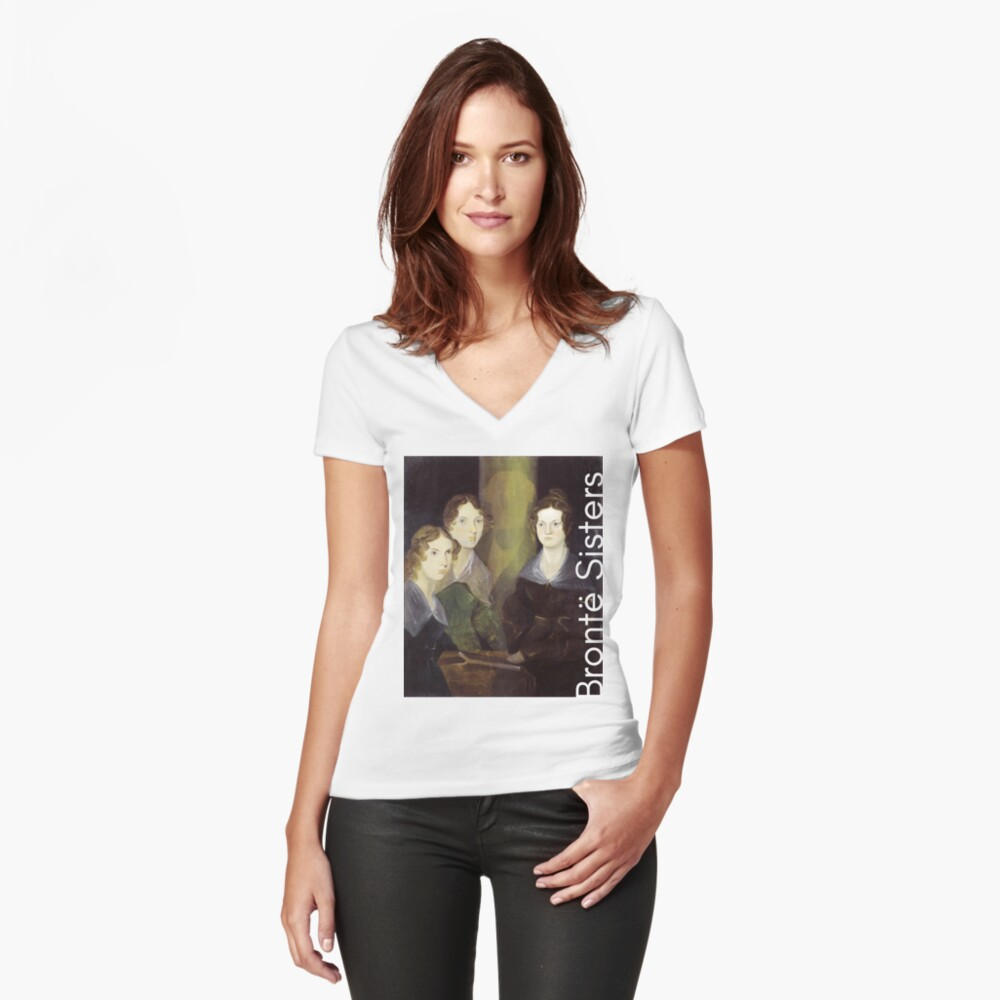 The Bronte Sisters Women's Fitted V-Neck T-Shirt Front