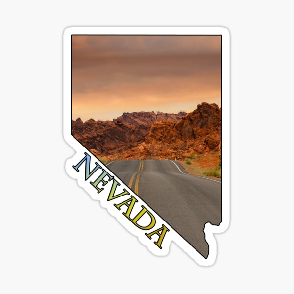 State of Nevada Outline & Valley of Fire State Park Sticker