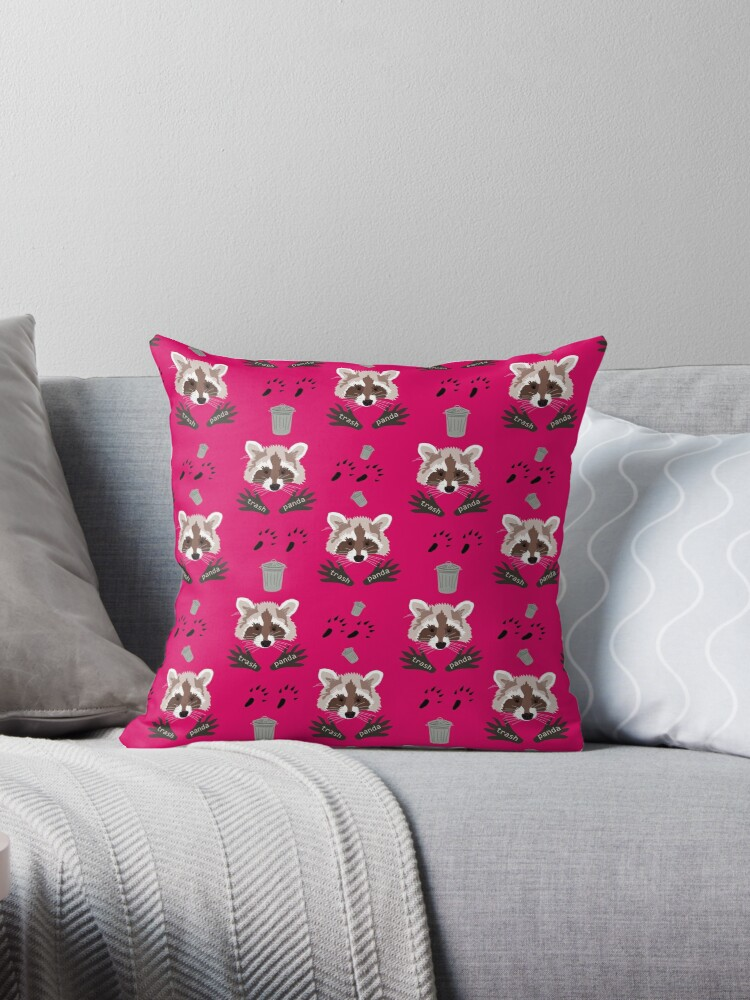Racoons on pink by chihuahuashower