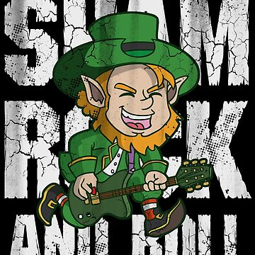 Irish Shamrock and Roll Leprechaun  by stpatricksday