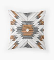 Urban Tribal Pattern 8 - Aztec - Wood Throw Pillow