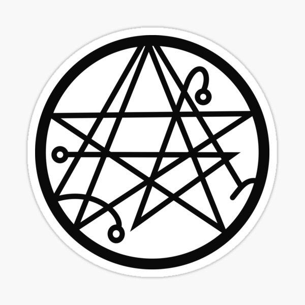 The Necronomicon Gate Symbol  Sticker
