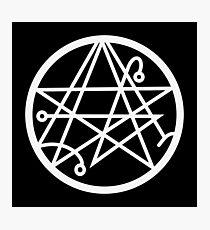 The Necronomicon Gate Symbol  Photographic Print