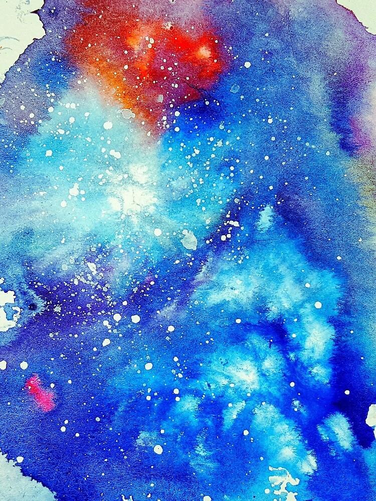 Glacier Watercolor Galaxy #2 by Sutherlandh