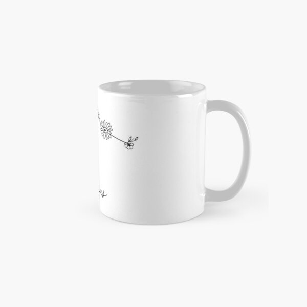 Aquarius Zodiac Wildflower Constellation Classic Mug
