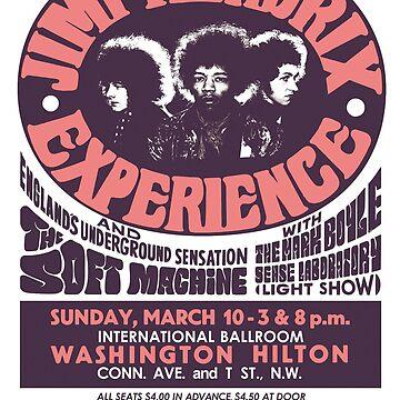 Vintage Jimi Hendrix Poster Design by whermansehr