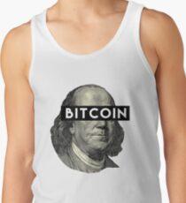 Crytocurrency Bitcoin Mining Benjamin Franklin T-Shirt & Sticker Men's Tank Top