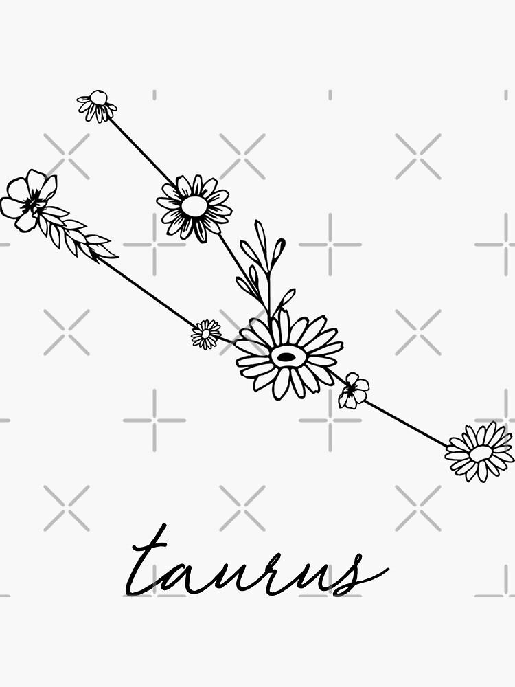 Taurus Zodiac Wildflower Constellation by aterkaderk