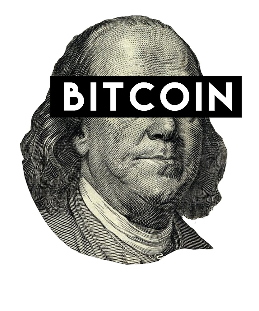 Crytocurrency Bitcoin Mining Benjamin Franklin T-Shirt & Sticker by langston1014