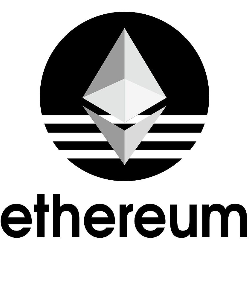 Ethereum ETH T-Shirt & Sticker For Blockchain Fans Adidas Logo by langston1014
