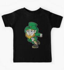 Irish Rugby Leprechaun Ireland Kids Tee