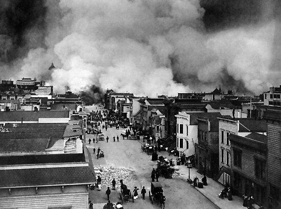 San Francisco Earthquake Aftermath - 1906 by warishellstore