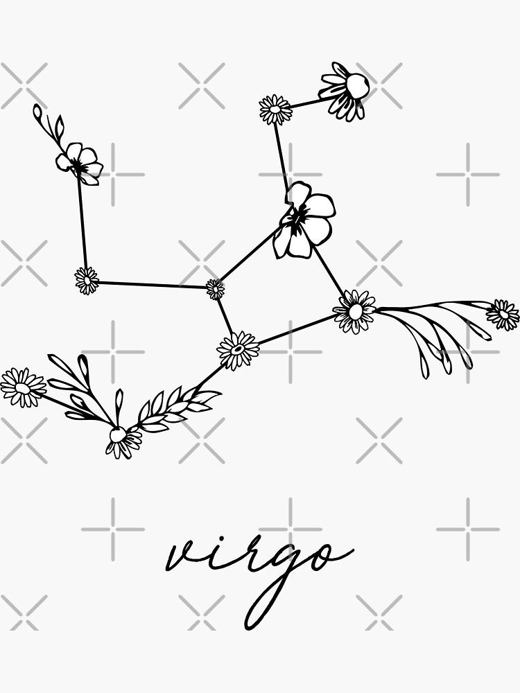 Jungfrau Sternzeichen Wildflower Constellation von aterkaderk