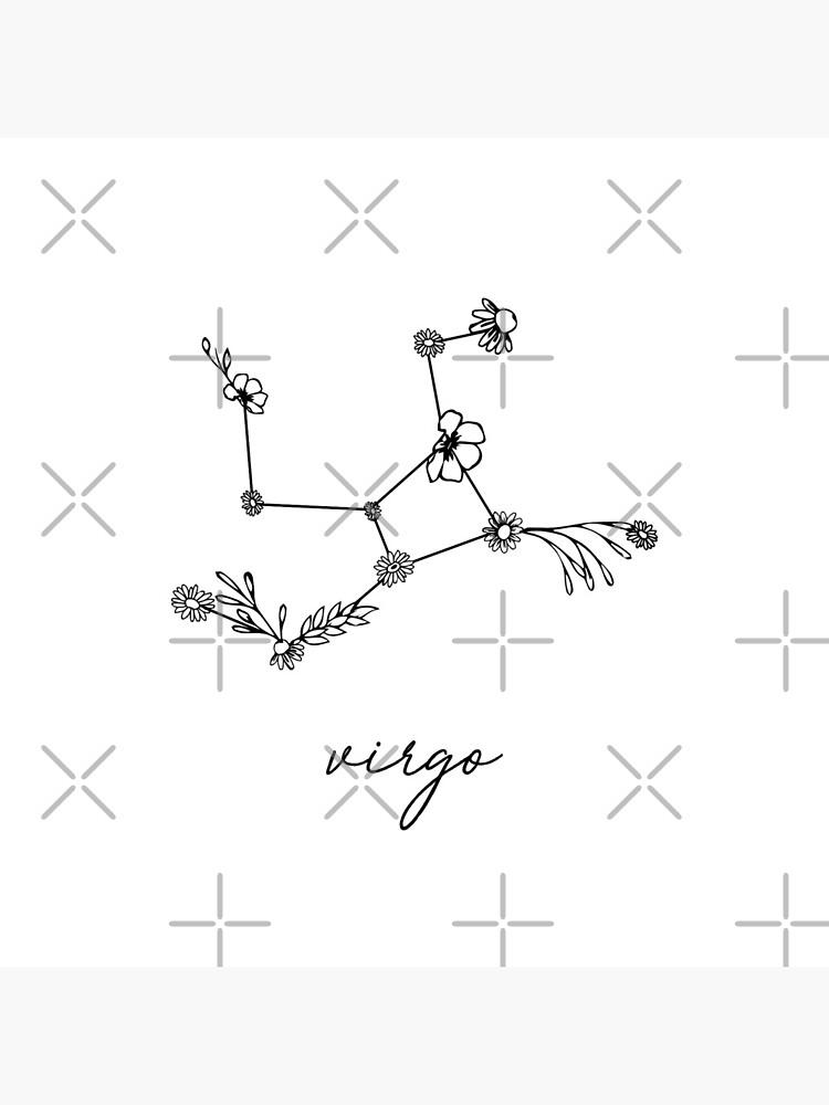 Virgo Zodiac Wildflower Constellation by aterkaderk