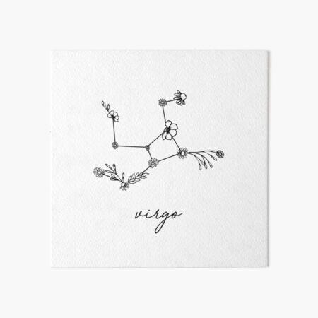 Virgo Zodiac Wildflower Constellation Art Board Print