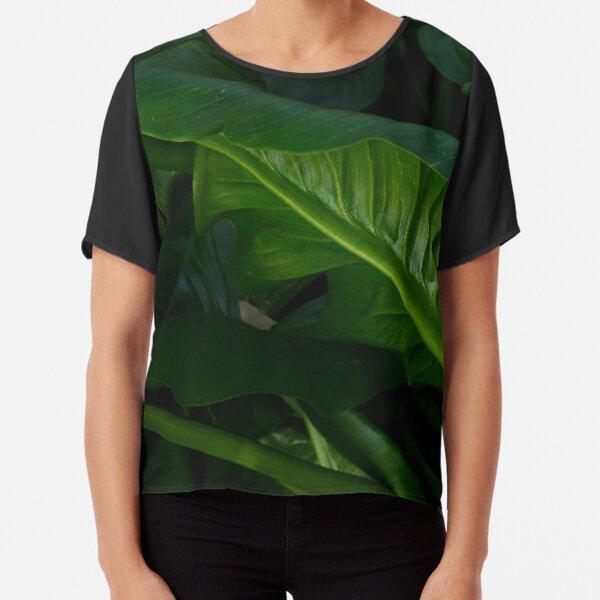 Green Foliage Chiffon Top